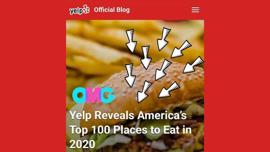 Yelp Reveals America's Top 100 Places to Eat in 2020