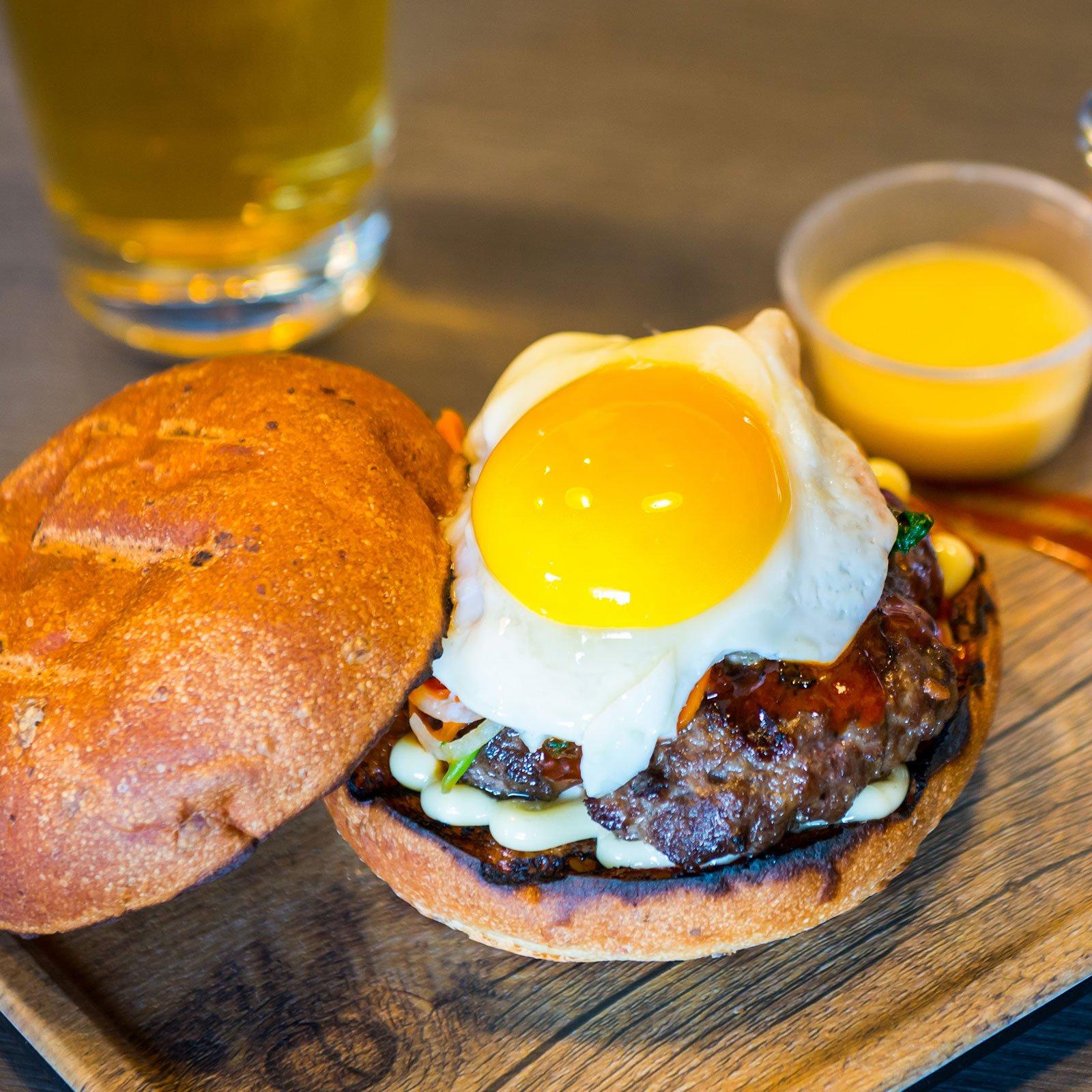 The Box & Burgers Eatery Bi Bim Bap Burger