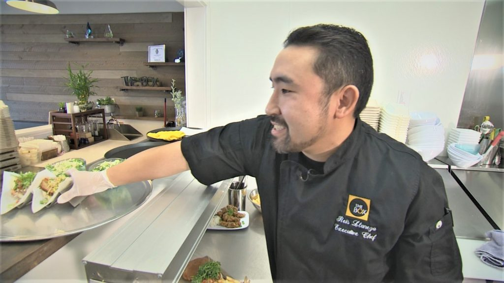 Chef Reis Llaneza of The Box and Burgers Eatery